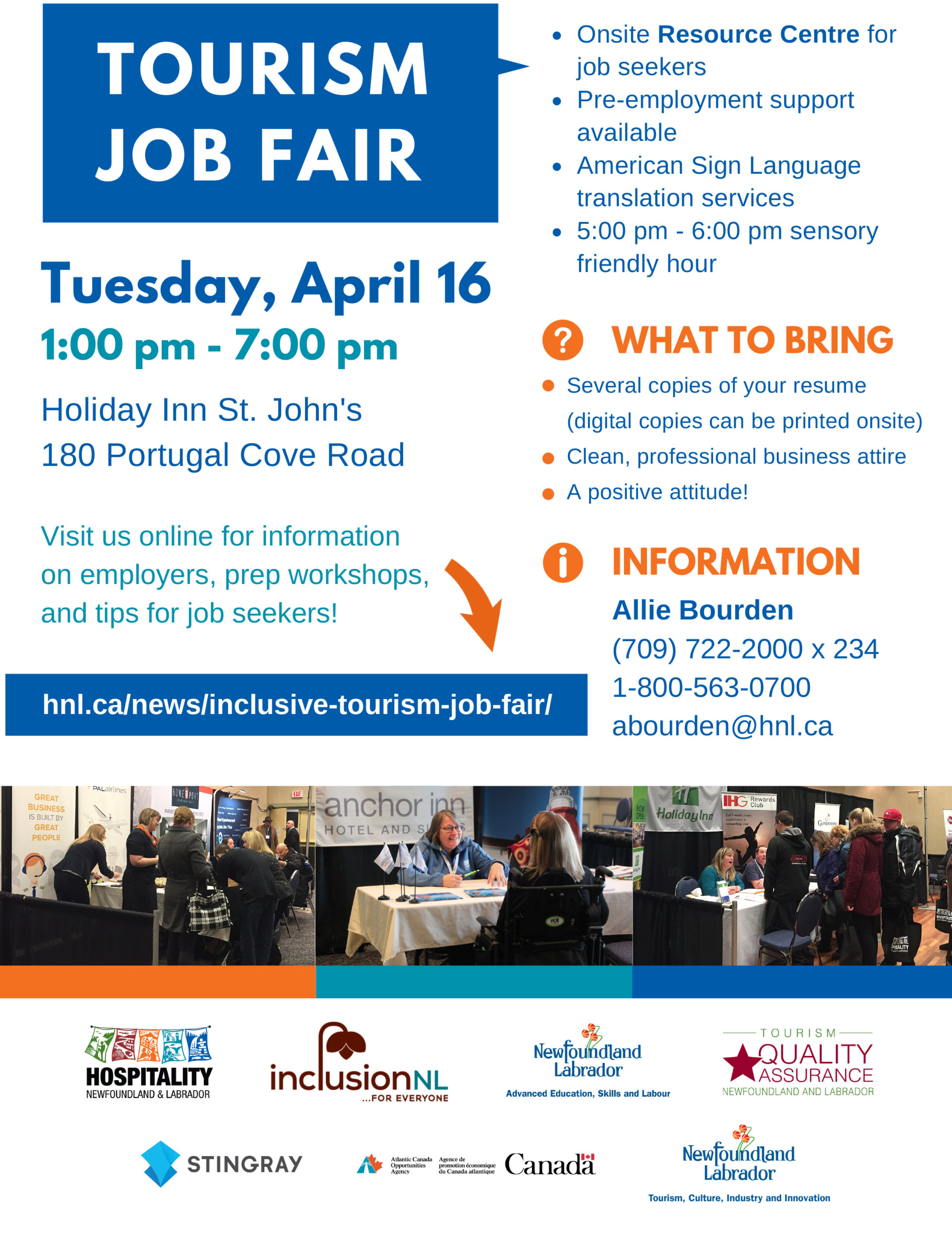 Inclusive Tourism Job Fair – HNL   Hospitality Newfoundland